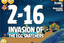Angry Birds Seasons Invasion of the Egg Snatchers Level 2-16 Walkthrough