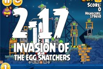 Angry Birds Seasons Invasion of the Egg Snatchers Level 2-17 Walkthrough