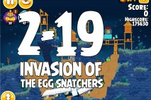Angry Birds Seasons Invasion of the Egg Snatchers Level 2-19 Walkthrough