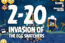 Angry Birds Seasons Invasion of the Egg Snatchers Level 2-20 Walkthrough