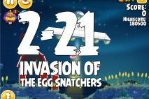 Angry Birds Seasons Invasion of the Egg Snatchers Level 2-21 Walkthrough