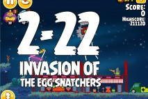 Angry Birds Seasons Invasion of the Egg Snatchers Level 2-22 Walkthrough