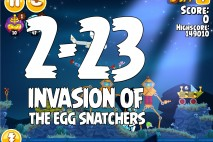 Angry Birds Seasons Invasion of the Egg Snatchers Level 2-23 Walkthrough