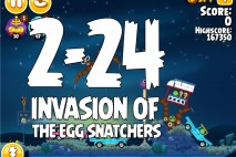 Angry Birds Seasons Invasion of the Egg Snatchers Level 2-24 Walkthrough