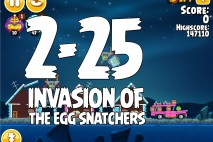 Angry Birds Seasons Invasion of the Egg Snatchers Level 2-25 Walkthrough