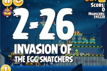 Angry Birds Seasons Invasion of the Egg Snatchers Level 2-26 Walkthrough