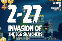 Angry Birds Seasons Invasion of the Egg Snatchers Level 2-27 Walkthrough