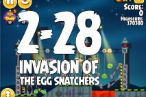 Angry Birds Seasons Invasion of the Egg Snatchers Level 2-28 Walkthrough