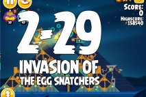 Angry Birds Seasons Invasion of the Egg Snatchers Level 2-29 Walkthrough