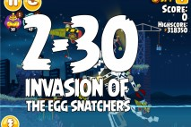 Angry Birds Seasons Invasion of the Egg Snatchers Level 2-30 Walkthrough