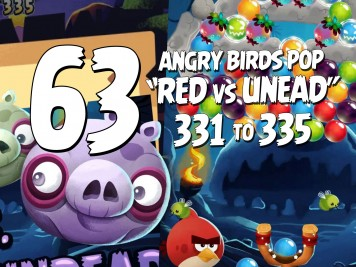 Angry Birds Stella Pop Featured Image Levels 331  thru 335 Halloween Red vs Undead Update