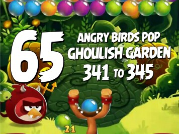 Angry Birds Stella Pop Featured Image Levels 341 thru 345 Ghoulish Garden Update