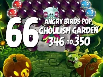 Angry Birds Stella Pop Featured Image Levels 346 thru 350 Ghoulish Garden Update