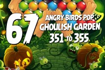 Angry Birds Pop Levels 351 to 355 Ghoulish Garden Walkthroughs