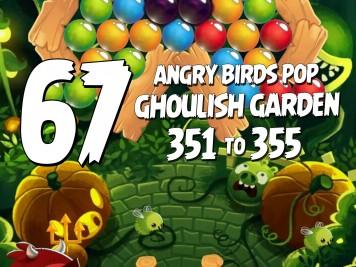 Angry Birds Stella Pop Featured Image Levels 351 thru 355 Ghoulish Garden Update
