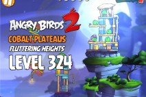 Angry Birds 2 Level 324 Cobalt Plateaus Fluttering Heights 3-Star Walkthrough