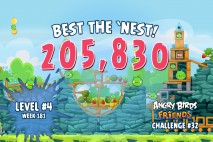 Can you 'Best the Nest' in Angry Birds Friends Tournament Week 181 Level 4?