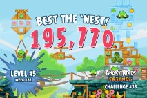 Can you 'Best the Nest' in Angry Birds Friends Tournament Week 182 Level 5?