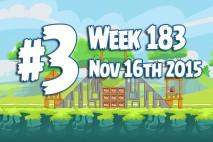 Angry Birds Friends 2015 Tournament Level 3 Week 183 Walkthrough