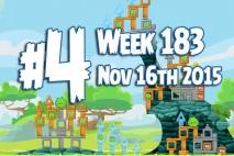 Angry Birds Friends 2015 Tournament Level 4 Week 183 Walkthrough