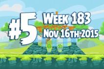 Angry Birds Friends 2015 Tournament Level 5 Week 183 Walkthrough
