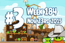 Angry Birds Friends 2015 Wild West Tournament Level 3 Week 184 Walkthrough