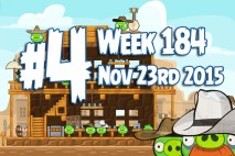 Angry Birds Friends 2015 Wild West Tournament Level 4 Week 184 Walkthrough