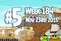 Angry Birds Friends 2015 Wild West Tournament Level 5 Week 184 Walkthrough