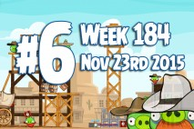 Angry Birds Friends 2015 Wild West Tournament Level 6 Week 184 Walkthrough