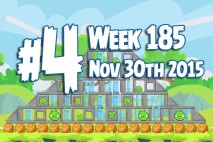 Angry Birds Friends 2015 Tournament Level 4 Week 185 Walkthrough
