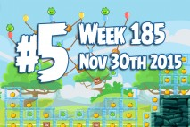 Angry Birds Friends 2015 Tournament Level 5 Week 185 Walkthrough