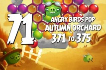 Angry Birds Pop Levels 371 to 375 Autumn Orchard Walkthroughs