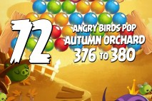 Angry Birds Pop Levels 376 to 380 Autumn Orchard Walkthroughs