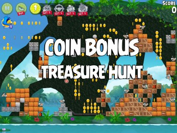 Angry Birds Rio Treasure Hunt Coin Bonus Level