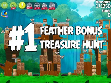 Angry Birds Rio Treasure Hunt Feather Bonus #1