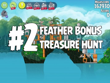 Angry Birds Rio Treasure Hunt Feather Bonus #2