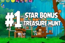 Angry Birds Rio Treasure Hunt Star Bonus Walkthrough Level 1