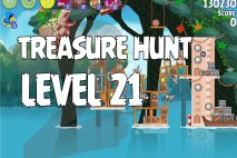 Angry Birds Rio Treasure Hunt Walkthrough Level #21