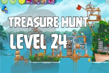 Angry Birds Rio Treasure Hunt Walkthrough Level #24