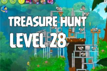 Angry Birds Rio Treasure Hunt Walkthrough Level #28