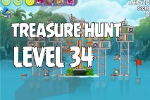 Angry Birds Rio Treasure Hunt Walkthrough Level #34