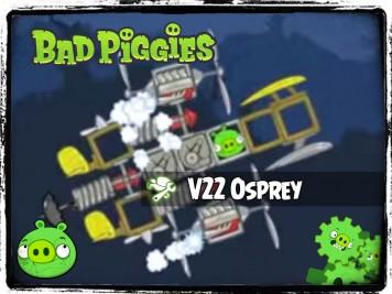 Bad Piggies 35 - Pigineering V22 Osprey Side View