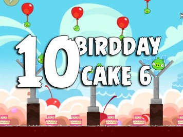 Angry Birds Classic Cake 6 Level 10 Labeled