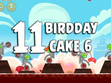 Angry Birds Classic Cake 6 Level 11 Labeled