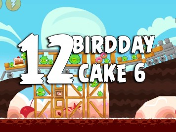 Angry Birds Classic Cake 6 Level 12 Labeled
