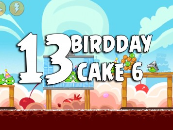 Angry Birds Classic Cake 6 Level 13 Labeled