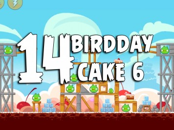 Angry Birds Classic Cake 6 Level 14 Labeled