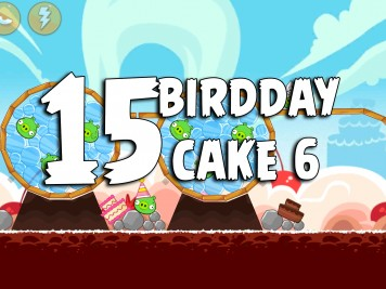 Angry Birds Classic Cake 6 Level 15 Labeled