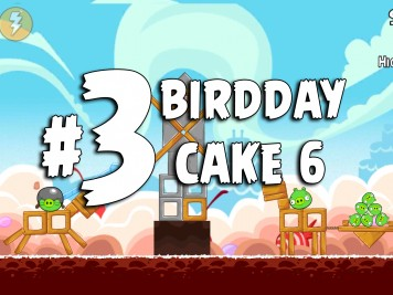 Angry Birds Classic Cake 6 Level 3 Labeled