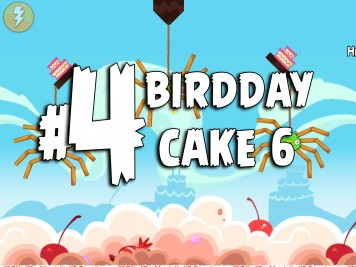 Angry Birds Classic Cake 6 Level 4 Labeled